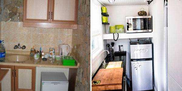 Кухня на балконі - варіанти оформлення ідей.