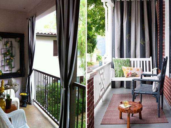 Штори на балконі в інтер'єрі - які краще.